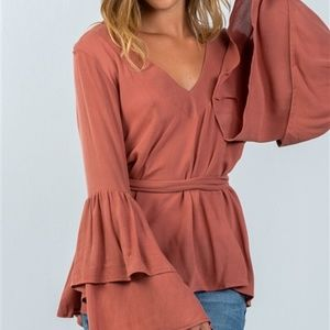 Tops - Now Available! RUFFLED SLEEVED BLOUSE